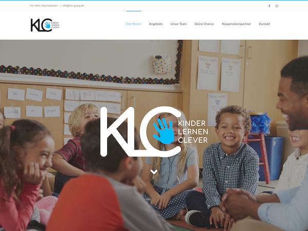 Screenshot der KLC e.V. Website