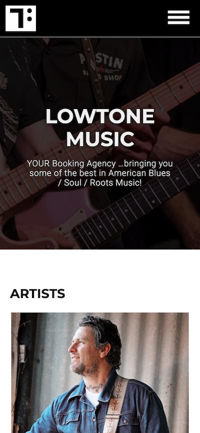 Screenshot der Lowtone Music Website