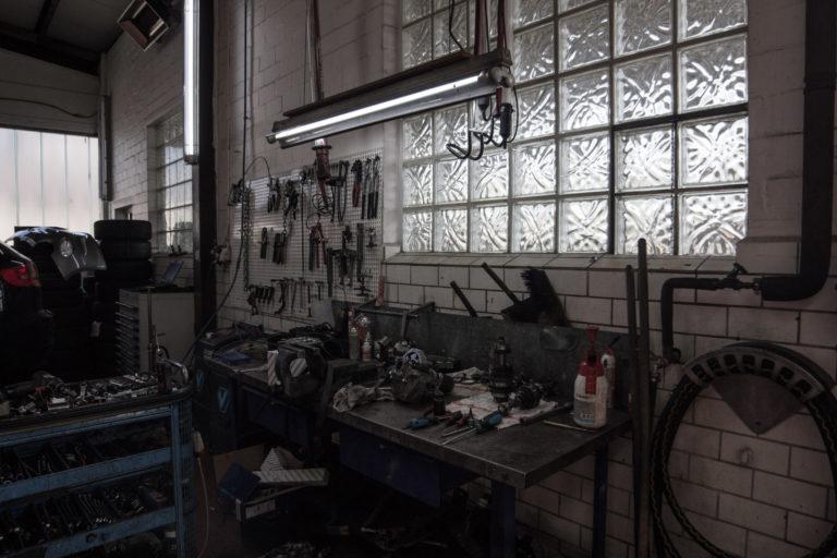 Werkbank in der Werkstatt vom Autohaus Ahlers